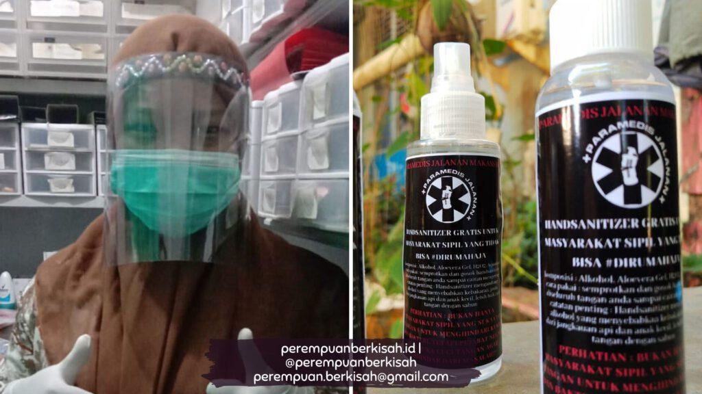 Kisah Petugas Medis Perempuan Membuat APD, Hand Sanitizer & Disinfektan Sendiri untuk Dibagikan Secara Gratis